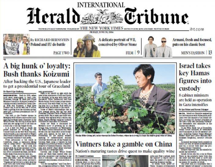 herald-tribune-article-vinebx-nicolas-billot-grima-wine-in-china